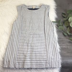 J. Crew Grey and Black Striped Tank